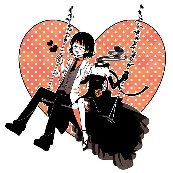 Tags: Anime, Monya, DURARARA!!, Sturluson Celty, Kishitani Shinra, Headless, Swing, Pixiv, Fanart