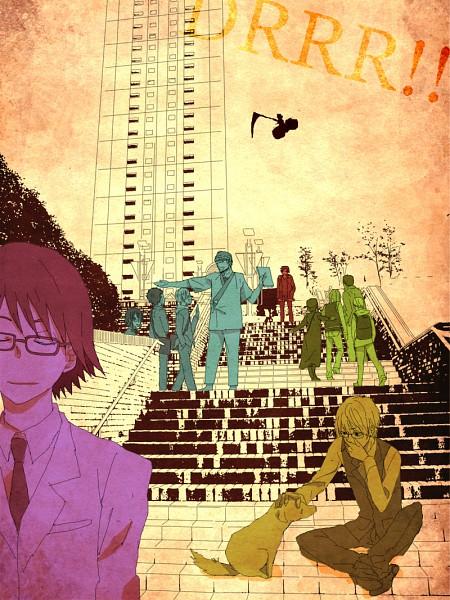 Tags: Anime, DURARARA!!, Ryuugamine Mikado, Kishitani Shinra, Togusa Saburou, Sonohara Anri, Simon Brezhnev, Karisawa Erika, Kida Masaomi, Sturluson Celty, Kadota Kyouhei, Orihara Izaya, Yumasaki Walker
