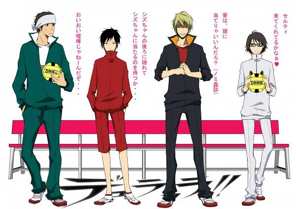 Tags: Anime, DURARARA!!, Kishitani Shinra, Orihara Izaya, Kadota Kyouhei, Heiwajima Shizuo