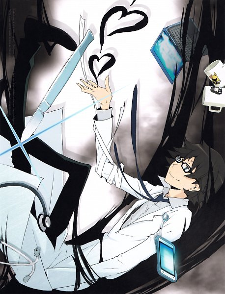Tags: Anime, DURARARA!!, Sturluson Celty, Kishitani Shinra, Official Art, DVD (Source), Scan