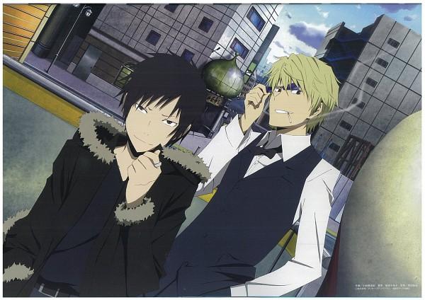 Tags: Anime, Kobayashi Miyuki, DURARARA!!, Heiwajima Shizuo, Orihara Izaya, Scan, Official Art