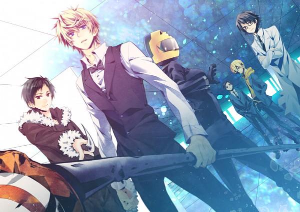 Tags: Anime, DURARARA!!, Kishitani Shinra, Kida Masaomi, Sturluson Celty, Orihara Izaya, Ryuugamine Mikado, Heiwajima Shizuo, Pixiv, Fanart