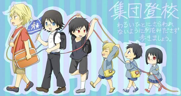 Tags: Anime, DURARARA!!, Kida Masaomi, Ryuugamine Mikado, Orihara Izaya, Heiwajima Shizuo, Kishitani Shinra, Sonohara Anri, Facebook Cover