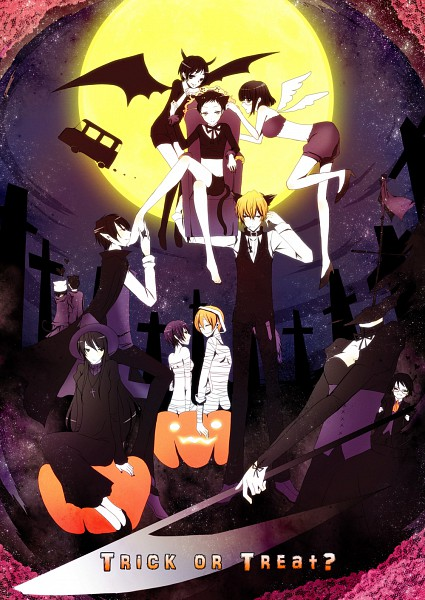 Tags: Anime, Pixiv Id 629098, DURARARA!!, Mikajima Saki, Orihara Izaya, Heiwajima Shizuo, Sturluson Celty, Kishitani Shinra, Yagiri Namie, Sonohara Anri, Ryuugamine Mikado, Kida Masaomi, Graveyard