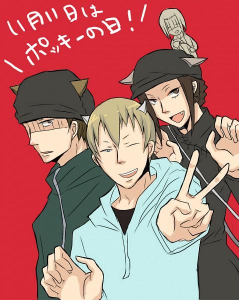 Tags: Anime, DURARARA!!, Kadota Kyouhei, Yumasaki Walker, Togusa Saburou, Karisawa Erika, Artist Request