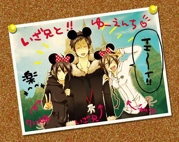 Tags: Anime, Pixiv Id 1933246, DURARARA!!, Orihara Izaya, Orihara Kururi, Orihara Mairu, Mickey Mouse (Cosplay), Disney, Pixiv