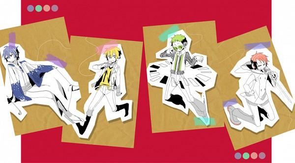 Tags: Anime, DURARARA!!, Orihara Izaya, Ryuugamine Mikado, Heiwajima Shizuo, Kida Masaomi, Artist Request, Psychedelic Dreams, Song-Over, Gakuen Tengoku, Linda Linda, Tsugaru Kaikyo Fuyu Geshiki