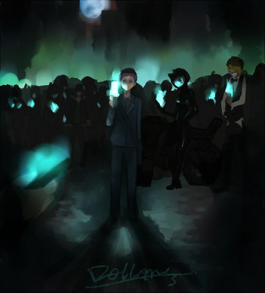 Tags: Anime, DURARARA!!, Sturluson Celty, Ryuugamine Mikado, Heiwajima Shizuo, Orihara Izaya