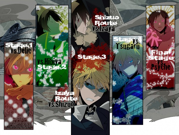 Tags: Anime, Nanto Hanamaru, DURARARA!!, Delic, Tsugaru, Psyche, Heiwajima Shizuo, Orihara Izaya, Hibiya, Psychedelic Dreams, Pixiv, Fanart, Subarashii Hibi
