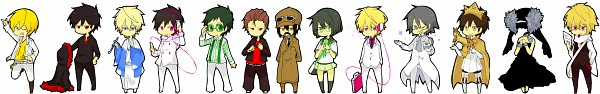 Tags: Anime, DURARARA!!, Heiwajima Shizuo, Sturluson Celty, Kishitani Shinra, Ryuugamine Mikado, Sonohara Anri, Heiwajima Kasuka, Kida Masaomi, Kadota Kyouhei, Orihara Izaya, Song-Over, Gakuen Tengoku