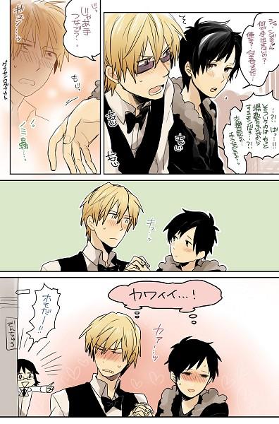 Tags: Anime, Vox, DURARARA!!, Heiwajima Shizuo, Kishitani Shinra, Mobile Wallpaper