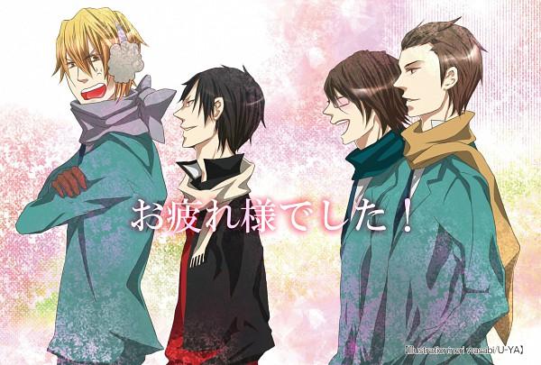 Tags: Anime, Pixiv Id 138657, DURARARA!!, Kadota Kyouhei, Heiwajima Shizuo, Kishitani Shinra, Orihara Izaya, Pixiv, Raijin Days