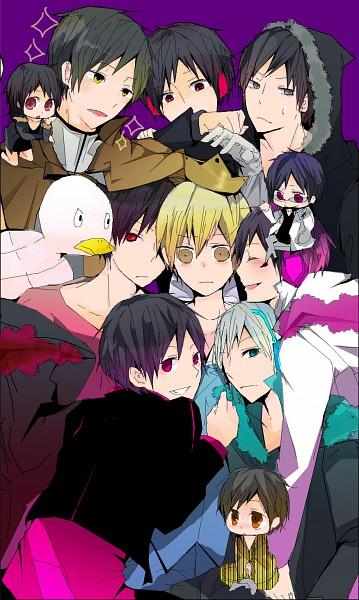 Tags: Anime, Mogdance, DURARARA!!, Psyche, Orihara Izaya, Hibiya, Kida Masaomi, Rubber Duck, Mobile Wallpaper, Subarashii Hibi, Psychedelic Blue, Psychedelic Dreams, Hachimenroppi Izaya