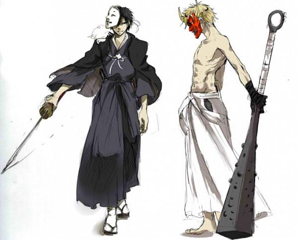 Tags: Anime, Meroo (Zest), DURARARA!!, Orihara Izaya, Heiwajima Shizuo, Oni Mask