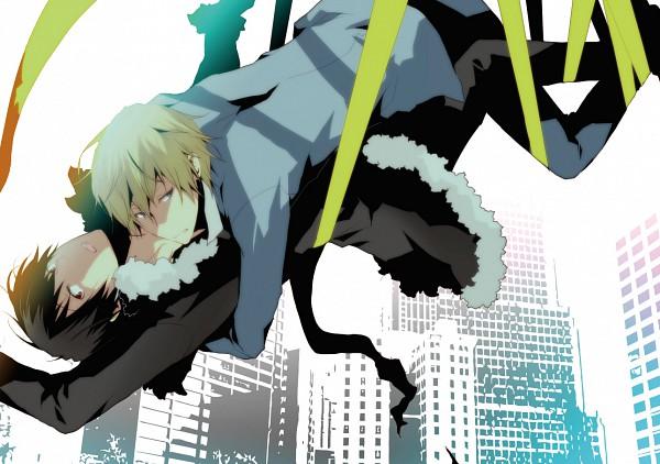 Tags: Anime, sinba, DURARARA!!, Heiwajima Shizuo, Orihara Izaya, Pixiv, PNG Conversion, Fanart