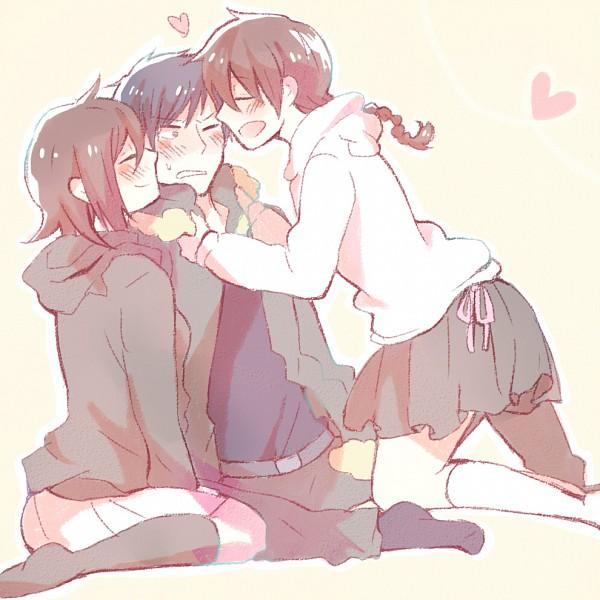 Tags: Anime, Sizuizasizuiza, DURARARA!!, Orihara Kururi, Orihara Mairu, Orihara Izaya, Pixiv