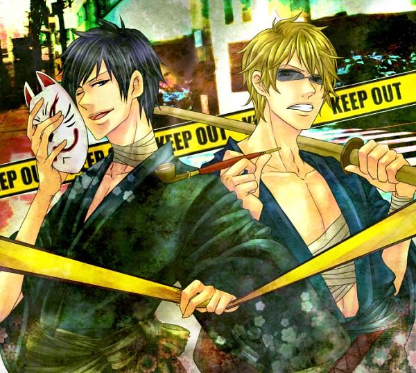 Tags: Anime, Pixiv Id 916607, DURARARA!!, Heiwajima Shizuo, Orihara Izaya, Pixiv, PNG Conversion, Fanart