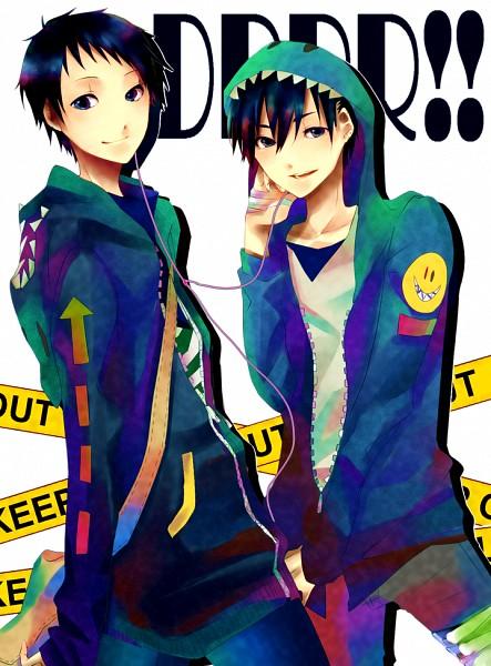 Tags: Anime, Pixiv Id 3484839, DURARARA!!, Kuronuma Aoba, Ryuugamine Mikado, Pixiv, Fanart