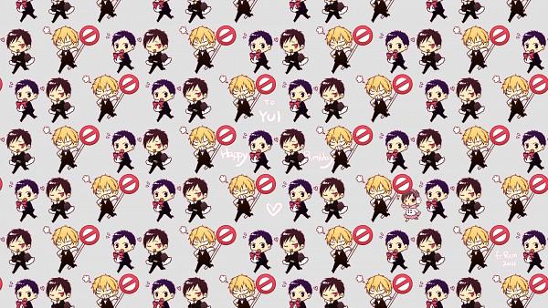 Tags: Anime, Remocholy, DURARARA!!, Ryuugamine Mikado, Heiwajima Shizuo, Orihara Izaya, Pixiv, Wallpaper, Fanart, HD Wallpaper, Facebook Cover
