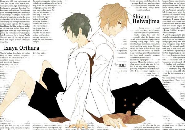 Tags: Anime, Aca, DURARARA!!, Heiwajima Shizuo, Orihara Izaya, Pixiv, Fanart