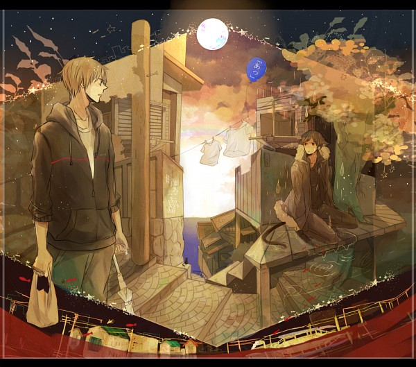 Tags: Anime, Saehina, DURARARA!!, Heiwajima Shizuo, Orihara Izaya, Pixiv, Fanart