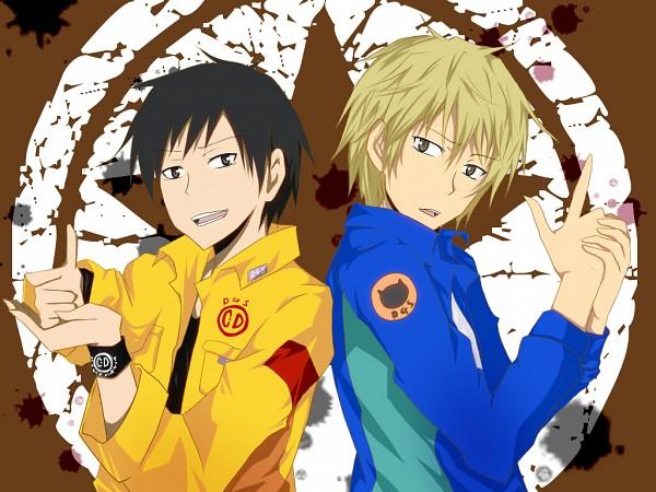 Tags: Anime, Himemiya (Clown1224), DURARARA!!, Dear Girl ~stories~, Orihara Izaya, Heiwajima Shizuo, Fanart, Pixiv, Wallpaper