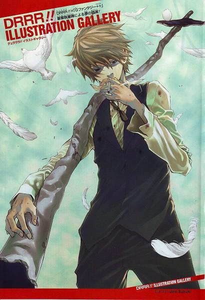 Tags: Anime, Suzuki Jirou, DURARARA!!, DURARARA!! Gfantasy Artwork, Heiwajima Shizuo, Bartender, Scan