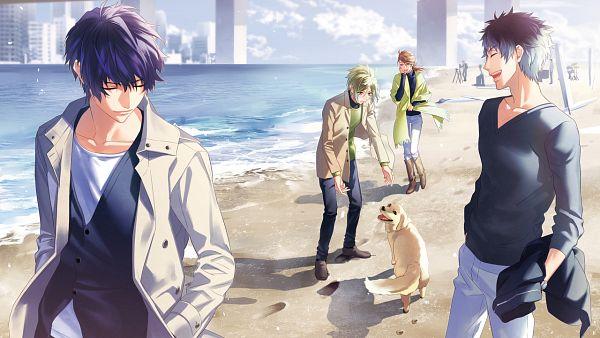 Tags: Anime, Fujiwara Ryo, honeybee, DYNAMIC CHORD, Haruna Soutarou, Suzuno Chiya, Yuisaki Seri, Hinoyama Sakura, Wallpaper, CG Art, Facebook Cover
