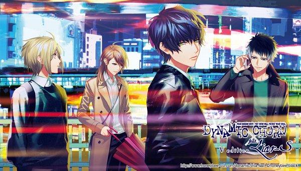Tags: Anime, Fujiwara Ryo, Honeybee Black, DYNAMIC CHORD, Hinoyama Sakura, Haruna Soutarou, Suzuno Chiya, Yuisaki Seri, Official Wallpaper, Wallpaper, Official Art