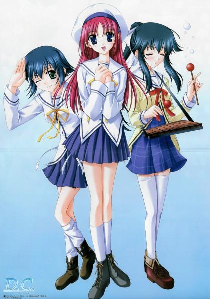 Tags: Anime, Nanao Naru, Megami #47 2004-04, Da Capo, Shirakawa Kotori, Mizukoshi Moe, Mizukoshi Mako, Xylophone, Official Art