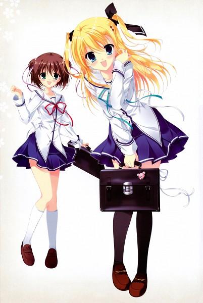 Tags: Anime, Tanihara Natsuki, CIRCUS (Studio), Da Capo III - Official Perfect Visual Book, Da Capo III, Katsuragi Himeno, Morizono Ricca, Scan, Official Art
