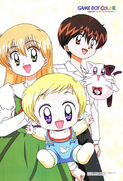 Tags: Anime, Daa! Daa! Daa!, Ruu (Daa! Daa! Daa!), Wannya, Kouzuki Miyu, Saionji Kanata, Official Art