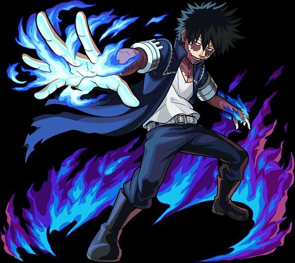 Tags: Anime, Boku no Hero Academia, Monster Strike, Dabi, Official Art