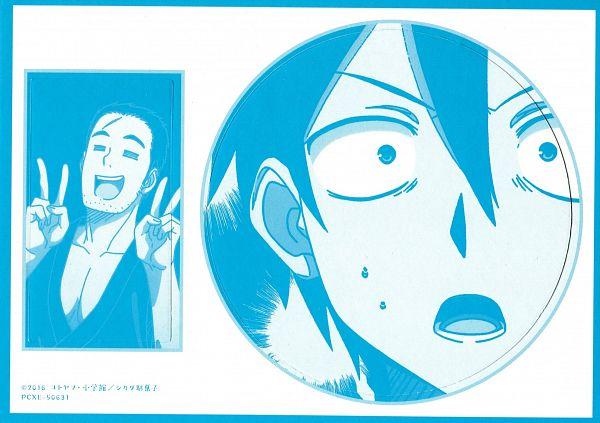 Tags: Anime, Kamimoto Kanetoshi, Feel (Studio), Dagashi Kashi, Shikada You, Shikada Kokonotsu, Official Art, Scan