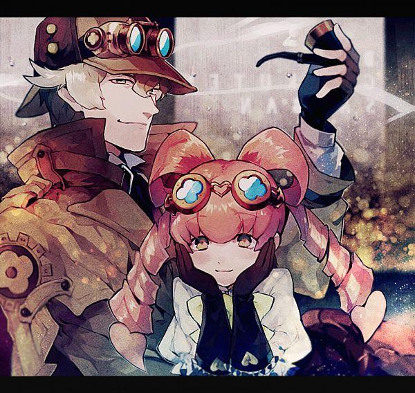 Tags: Anime, Pixiv Id 467563, Dai Gyakuten Saiban: Naruhodou Ryuunosuke no Bouken, Sherlock Holmes (Dai Gyakuten Saiban), Iris Watson, Fanart From Pixiv, Pixiv, Fanart