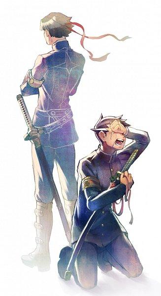 Tags: Anime, mebarunrun, Dai Gyakuten Saiban: Naruhodou Ryuunosuke no Bouken, Kazuma Asogi, Naruhodo Ryunosuke, Pixiv, Fanart, Fanart From Pixiv