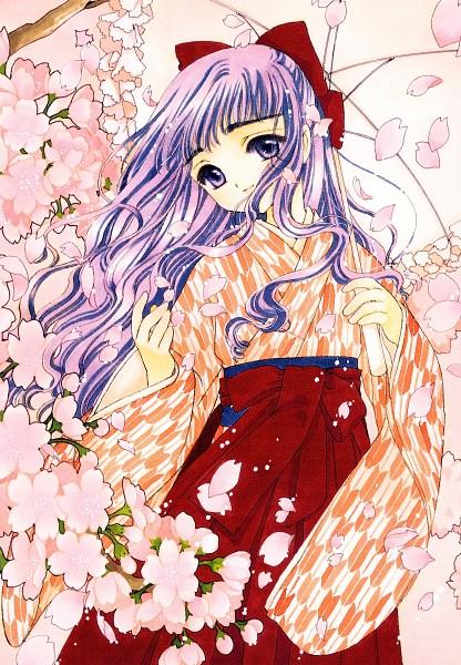 Tags: Anime, CLAMP, Cardcaptor Sakura, Cardcaptor Sakura Illustrations Collection 2, Daidouji Tomoyo, Yagasuri, Official Art, Scan, Mobile Wallpaper