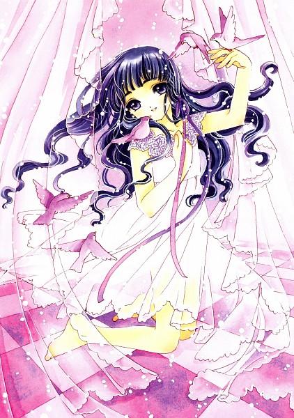 Tags: Anime, CLAMP, Cardcaptor Sakura, Cardcaptor Sakura Illustrations Collection 3, Daidouji Tomoyo, Official Art, Scan, Mobile Wallpaper