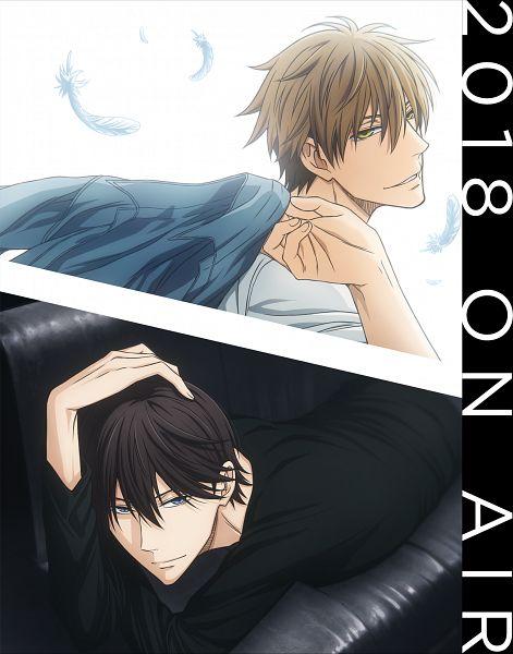 Tags: Anime, Shiba Minako, CloverWorks, Dakaretai Otoko 1-i ni Odosarete Imasu, Saijou Takato, Azumaya Junta, Official Art, Key Visual, Cover Image