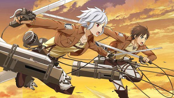 Tags: Anime, Wright Flyer Studios, Attack on Titan, Dungeon ni Deai wo Motomeru no wa Machigatteiru no Darou ka, DanMachi: Memoria Freese, Bell Cranel, Eren Jaeger, Shingeki no Kyojin (Cosplay), Official Art, Wallpaper