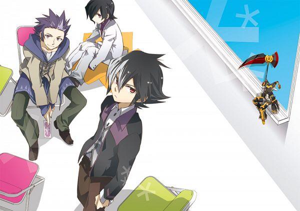 Tags: Anime, Mudo, Danball Senki, Joker (Danball), Haibara Yuuya, Sendou Daiki, Kaidou Jin, Pixiv, Fanart, LBX