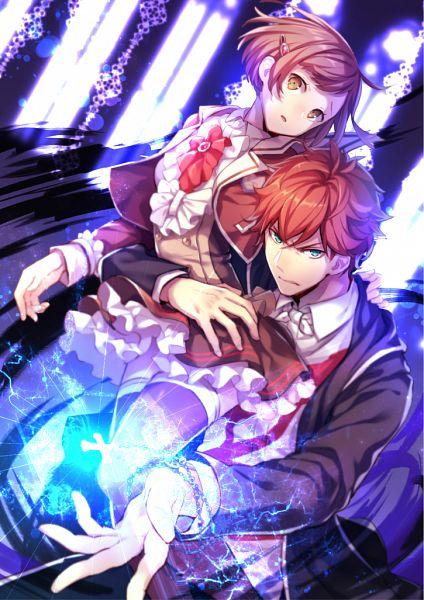 Tags: Anime, Pekopekotaro, Dance with Devils, Tachibana Lind, Tachibana Ritsuka, Mobile Wallpaper, Pixiv, Fanart