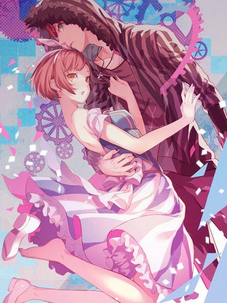 Tags: Anime, Pekopekotaro, Dance with Devils, Tachibana Ritsuka, Tachibana Lind, Footwear Off, PNG Conversion, Pixiv, Fanart, Mobile Wallpaper, Fanart From Pixiv