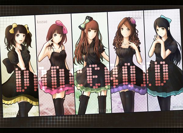 Tags: Anime, Lancefate, Ikura (Danceroid), Kozue (Danceroid), Coco (Danceroid), Maamu (Danceroid), Yuzuki (Danceroid), Brown Dress, Pixiv, Fanart, Danceroid