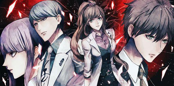 Tags: Anime, Pixiv Id 1569568, Danganronpa 3: The End of Kibougamine Gakuen - Mirai-hen, Naegi Makoto, Munakata Kyousuke, Yukizome Chisa, Kirigiri Kyouko, PNG Conversion