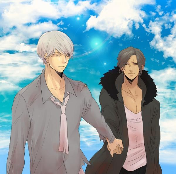 Tags: Anime, Pixiv Id 3645530, Danganronpa 3: The End of Kibougamine Gakuen - Mirai-hen, Sakakura Juuzou, Munakata Kyousuke