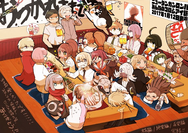 Tags: Anime, Idate (Horrygreen), Danganronpa 3: The End of Kibougamine Gakuen - Mirai-hen, Towa Monaka, Great Gozu, Togami Byakuya, Munakata Kyousuke, Izayoi Sounosuke, Naegi Komaru, Bandai Daisaku, Kirigiri Kyouko, Monokuma, Andou Ruruka