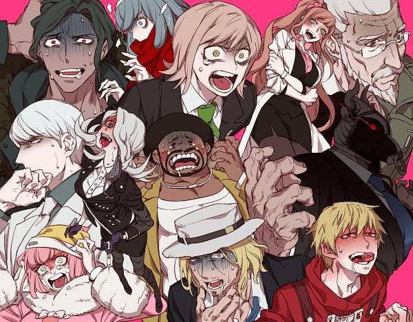 Tags: Anime, Sara (kurome1127), Danganronpa 3: The End of Kibougamine Gakuen - Mirai-hen, Kizakura Kouichi, Gekkougahara Miaya, Yukizome Chisa, Tengan Kazuo, Great Gozu, Izayoi Sounosuke, Bandai Daisaku, Andou Ruruka, Munakata Kyousuke, Mitarai Ryouta
