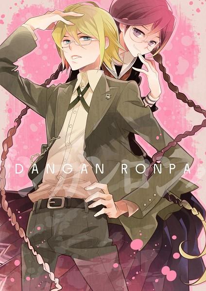 Tags: Anime, Nogaki Suzume, Danganronpa, Fukawa Touko, Togami Byakuya, Unusual Colored Blood, Pixiv, Fanart, Fanart From Pixiv, Mobile Wallpaper