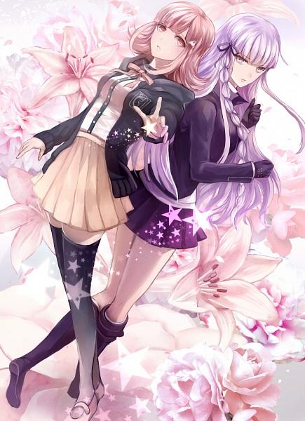 Tags: Anime, Ouri, Super Danganronpa 2, Danganronpa, Nanami Chiaki, Kirigiri Kyouko, Mobile Wallpaper, Pixiv, Fanart From Pixiv, Fanart
